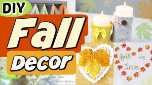 5 easy diy fall room decor ideas autumn decorations how to youtube