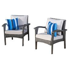 Outdoor Wicker Chairs With Cushions Belham Living Kambree All Weather Wicker Deep Seating Chair With