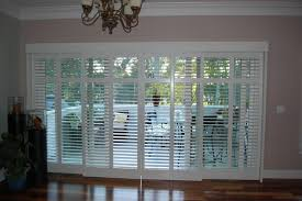 Sliding Shutters For Patio Doors Plantation Shutters On Sliding Glass Doors Traditional For