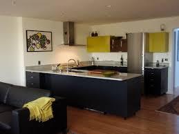 appliances loft kitchen design wet bar with blue mosaic tile