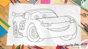 how to draw lightning mcqueen easy step by step drawing lessons