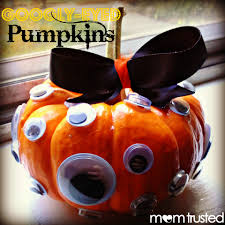 No Carve Pumpkin Decorating Ideas Easy No Carve Googly Eye Pumpkin Decorating Idea Preschool