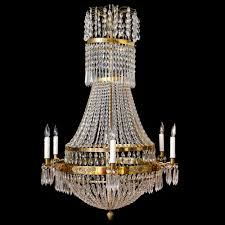 Swedish Chandelier Six Light Swedish Antique Empire Chandelier In Brass And Cut