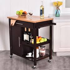 kitchen island trolley rolling wood kitchen island trolley cart bamboo top storage cabinet