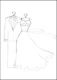 wedding dresses coloring page free download