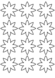 flower template coloring page crafts and worksheets for