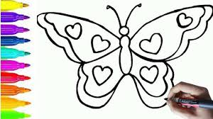how to draw and color animals for kids butterfly coloring pages
