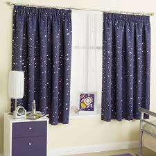 Nursery Blackout Curtains Uk by Moon U0026 Stars Metallic Tape Top Thermal Semi Blockout Curtains
