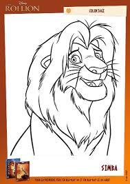 colorier un dessin du roi lion