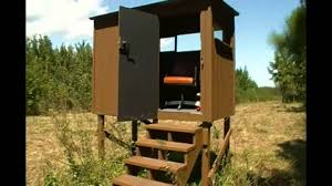 Building A Hunting Blind My Deer Box Blind Youtube
