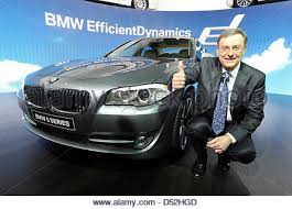bmw ceo norbert reithofer bmw ceo presents the bmw 5 series at the