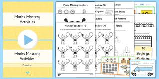 1 maths mastery number bonds lesson teaching pack