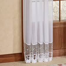Embroidered Sheer Curtains Vintage Embroidered Macrame Semi Sheer Window Treatment