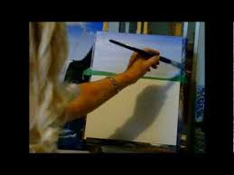 how to blend a beautiful blue sky with acrylic paint acrylic