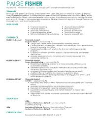 Finance Resume Examples by Splendid Ideas Finance Resume Examples 2 16 Amazing Accounting