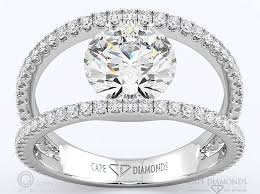 split band engagement rings 77 contemporary pave split band engagement ring cape