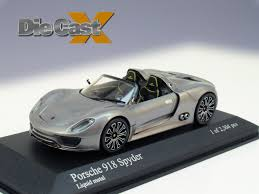 electric porsche supercar minichamps 1 43 porsche 918 spyder electric slide die cast x