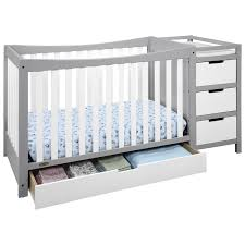 Grey Convertible Crib by Graco Remi 4 In 1 Convertible Crib And Changer White Pebble Grey