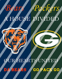 packers bears house divided wall decor sign instant download