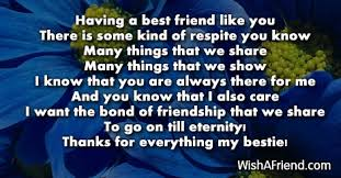 having a good friend like you poem for best friends