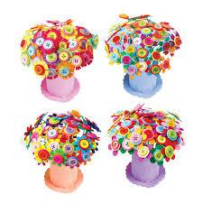 button flowers diy flowers 3d puzzle foam craft button flowers pot