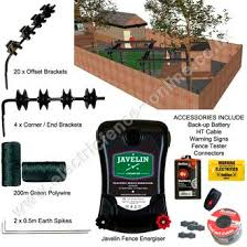 home security electric fence kit electric fence