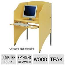 photo booth purchase computer desk privacy booth wood keyboard drawer at tigerdirect