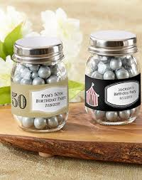 50th birthday favors mini jar 50th birthday party favors fill with small candy