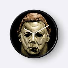 michael myers mask michael myers mask clocks by drielmans redbubble