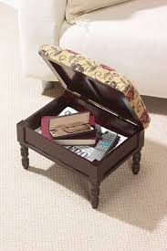 greenhurst storage footstool in a traditional stained mahogany