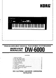 korg dw 6000 service manual parts catalog schematic
