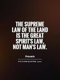 the supreme of the land is the great spirit s not s