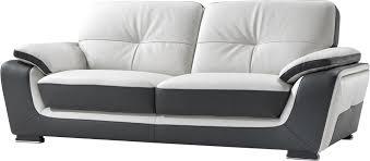 canapé cuir bicolore canapé cuir sina canapé fixe pas cher mobilier et literie à petit