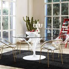 tavoli sala da pranzo calligaris tavolo da pranzo moderno in vetro in metallo rotondo