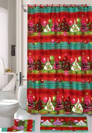 Snowman Shower Curtain Target by Amazon Com Season U0027s Greetings 15 Piece Shower Curtain Bath Set 1