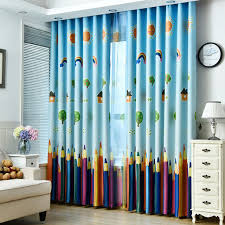 rainbows and pencils children curtains baby room curtains for