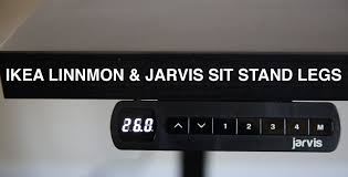 Standing Height Desk Ikea by Ikea Linnmon Desktop With Jarvis Sit Stand Desk Review Youtube