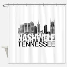 Skyline Shower Curtain Nashville Shower Curtains Nashville Fabric Shower Curtain Liner