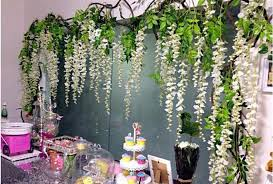 wedding backdrop flowers 12 white wisteria hanging flower garland for wedding backdrops