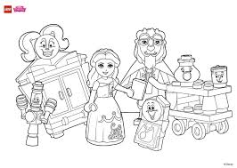 coloring fun with beauty and her friends coloring page