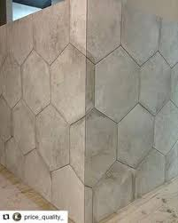 Hexagon Tile Bathroom Floor by Honeycomb Tile And Subway Tile With Black Grout Didn U0027t Know