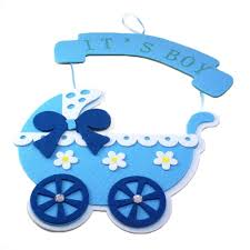 it s a boy decorations maple craft 17 stiffened felt it s boy girl carriage hanging