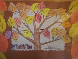 thanksgiving placemat craft for kids night owl u0027s menagerie the thankful tree placemat project