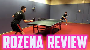 table tennis rubber reviews butterfly rozena rubber review youtube