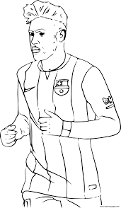 neymar fc barcelone soccer coloring pages printable