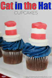 dr seuss cupcakes dr seuss cat in the hat cupcakes from s desk