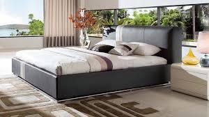 Modern Platform Bed Queen Prix Leather Contemporary Platform Bed Grey Zuri Furniture
