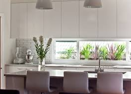 White Stained Wood Kitchen Cabinets Brushed Nickel Pendan Light Square White Stained Wooden Kitchen