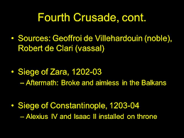 siege de zara the later crusades week 5 lecture ppt