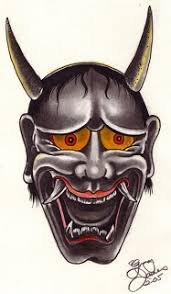dava tatto japanese hannya mask designs